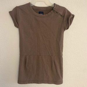Gap girls brown with metallic sweatshirt dress